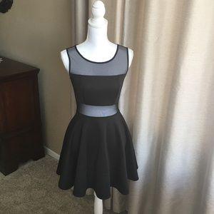 Guess black flare mini dress